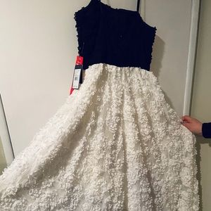 NEW adrianna papell size 10 black/white prom dress